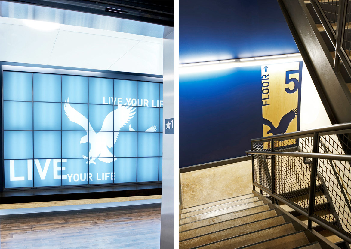 American Eagle Outfitters HQ. Designed by Duffy & Partners / @enviromeant.com
