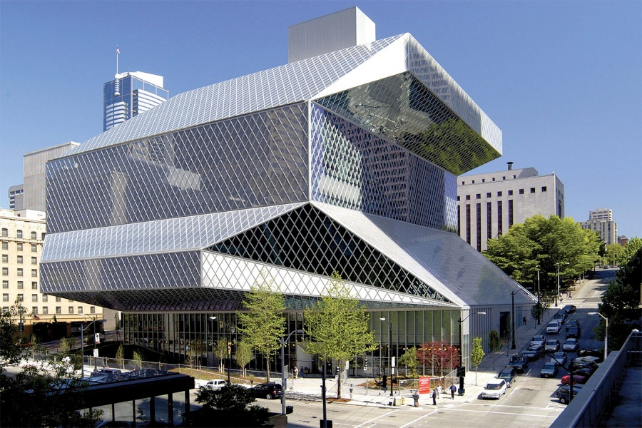 Seattle Public Library. Designed by Bruce Mau Design. @enviromeant.com