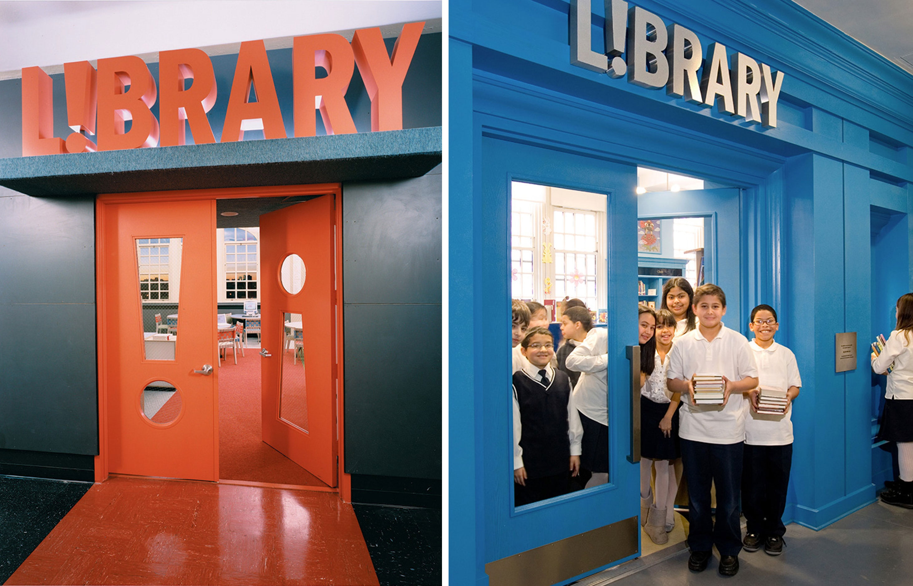The L!brary Initiative. Designed by Pentagram / @enviromeant.com