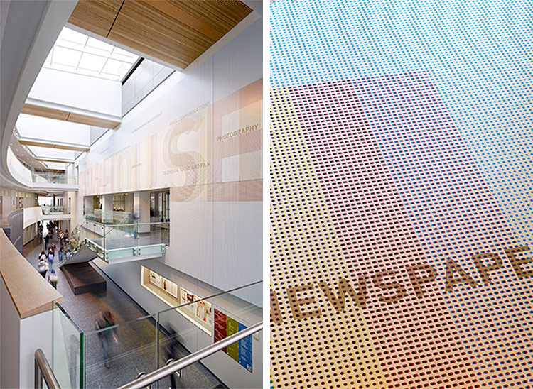 S.I. Newhouse School of Public Communications. Designed by Poulin + Morris Inc. @enviromeant.com