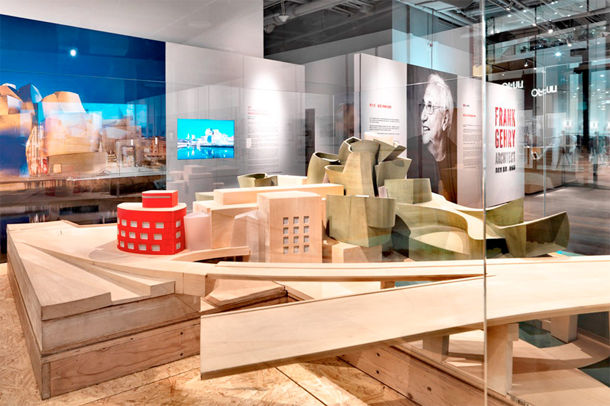 Frank Gehry Exhibition. Designed by Marc & Chantal. @enviromeant.com