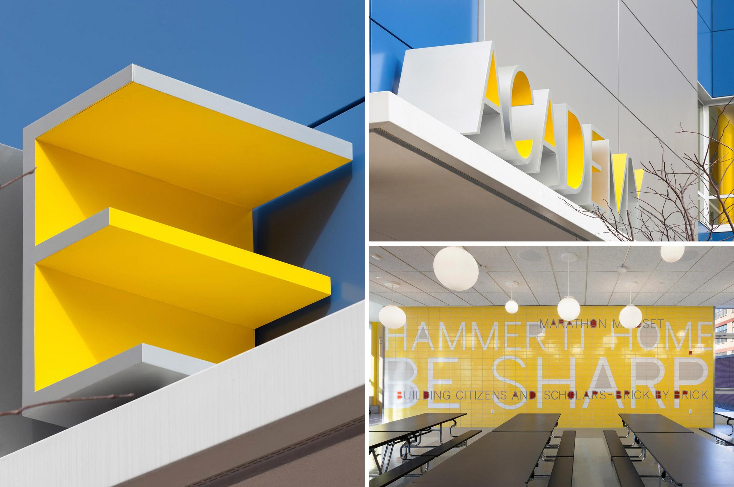The Leonardo Museum. Designed by Hyperakt / @enviromeant.comPAVE Academy Charter School. Designed by Pentagram @enviromeant.com