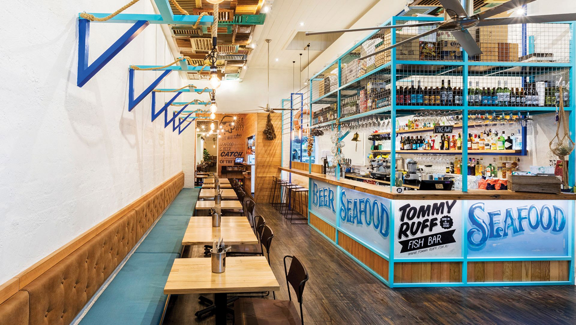 Tommy Ruff Fish Bar. Designed by Studio Equator. @enviromeant.com