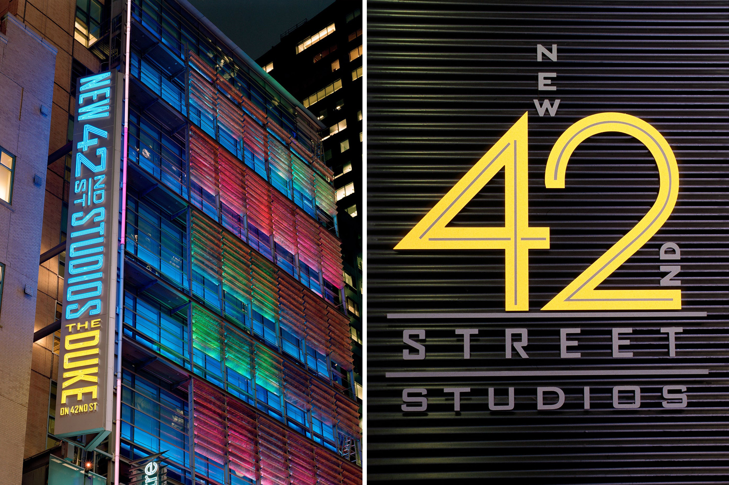 New 42nd Street Studios. Designed by Pentagram @enviromeant.com