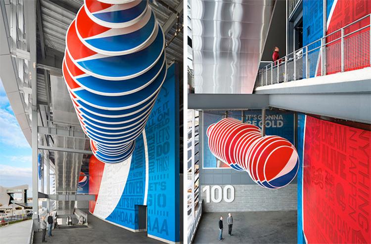 Pepsi at MetLife Stadium. Designed by Pentagram @enviromeant.com