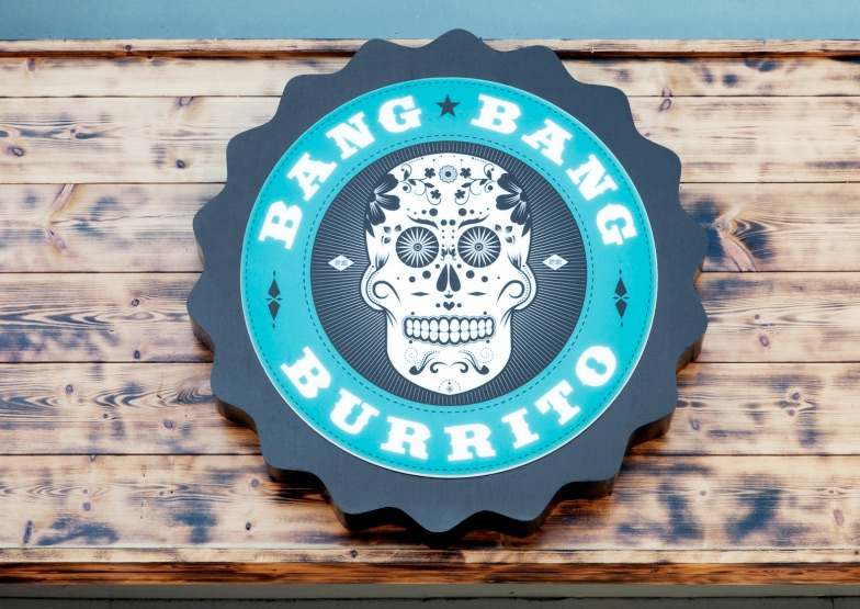 Bang Bang Burrito. Designed by Filthy Media / www.enviromeant.com