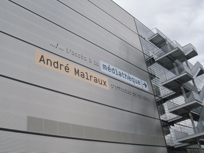 Médiathéque André Malraux Strasbourg. Designed by IRB Paris @enviromeant.com
