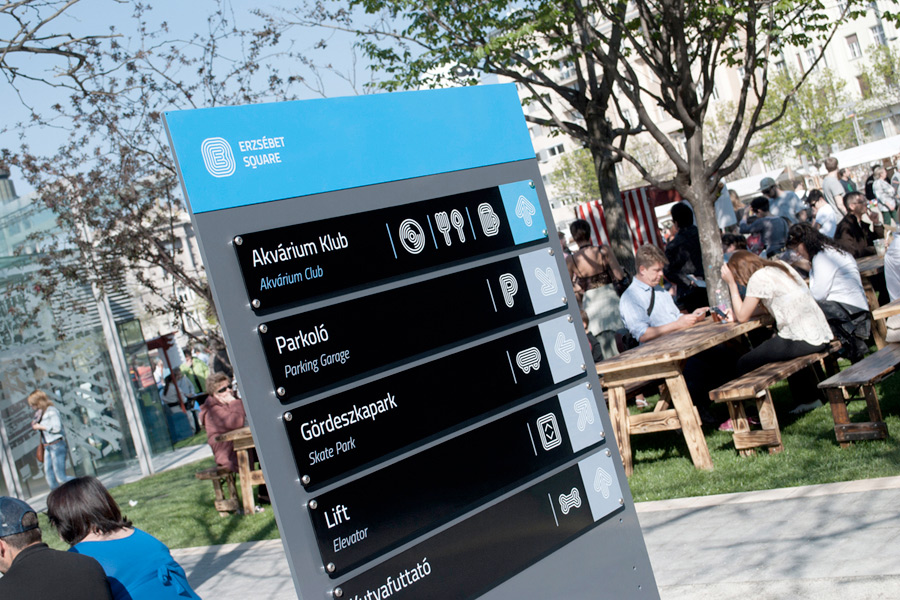 Erzsébet Square Identity. Designed by Hidden Characters @enviromeant.com