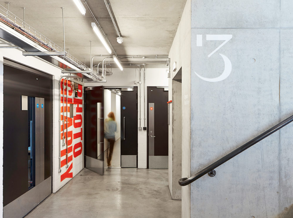Signage & Wayfinding for The Royal College of Art. Designed by Cartlidge Levene. @enviromeant.com