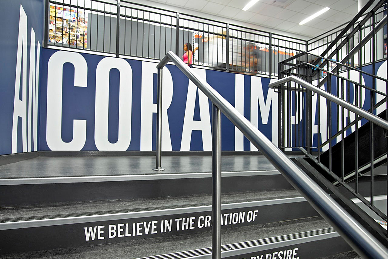 Environmental Graphics for KIPP NYC College Prep High School. Designed by Pentagram @enviromeant.com