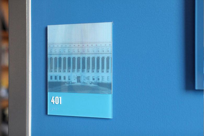 Environmental Graphics for KIPP NYC College Prep High School. Designed by Pentagram @enviromeant.com