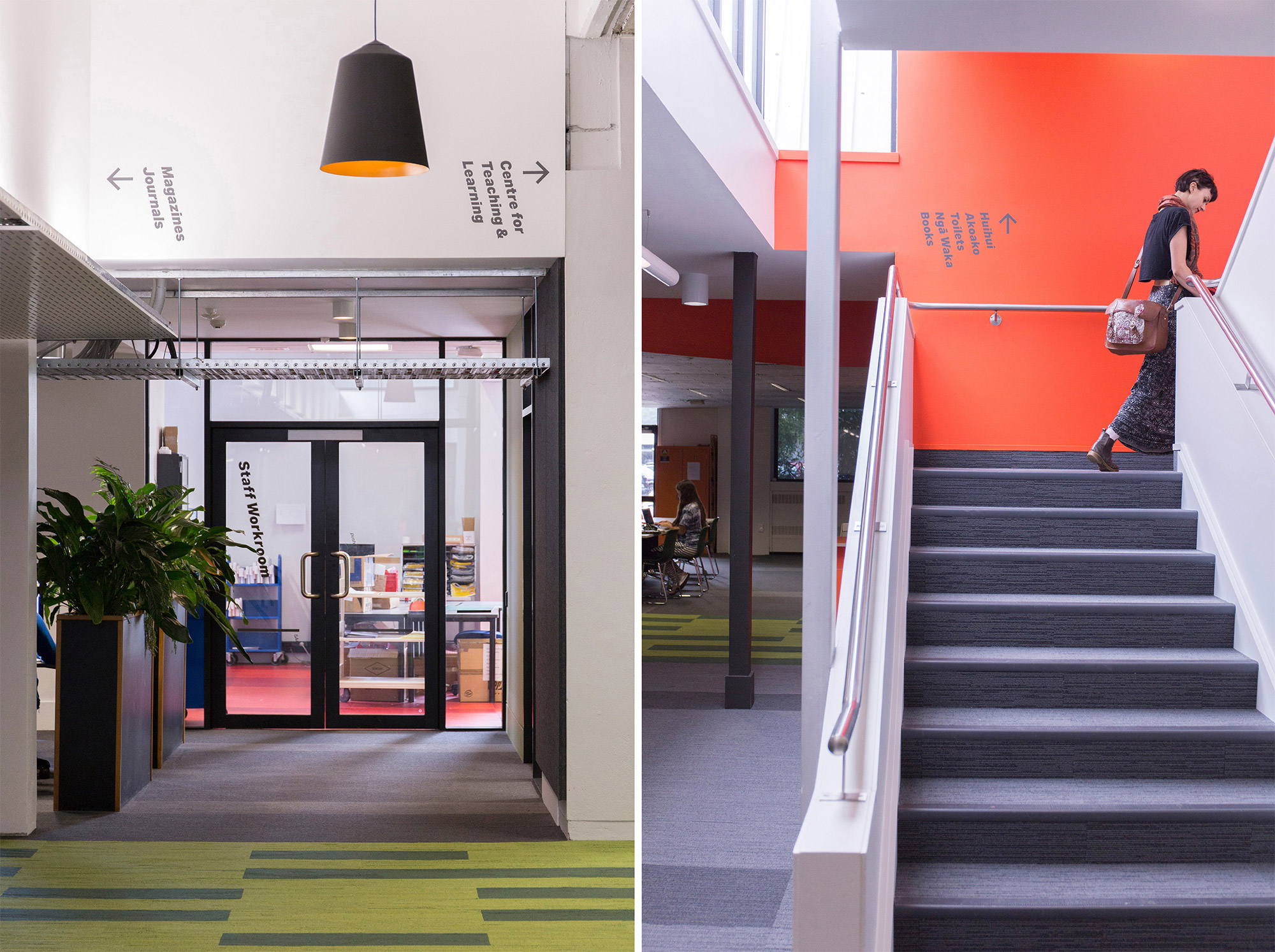 Super Graphics for A Library for the new New Zealand.  Designed by Strategy Design & Advertising @enviromeant.com