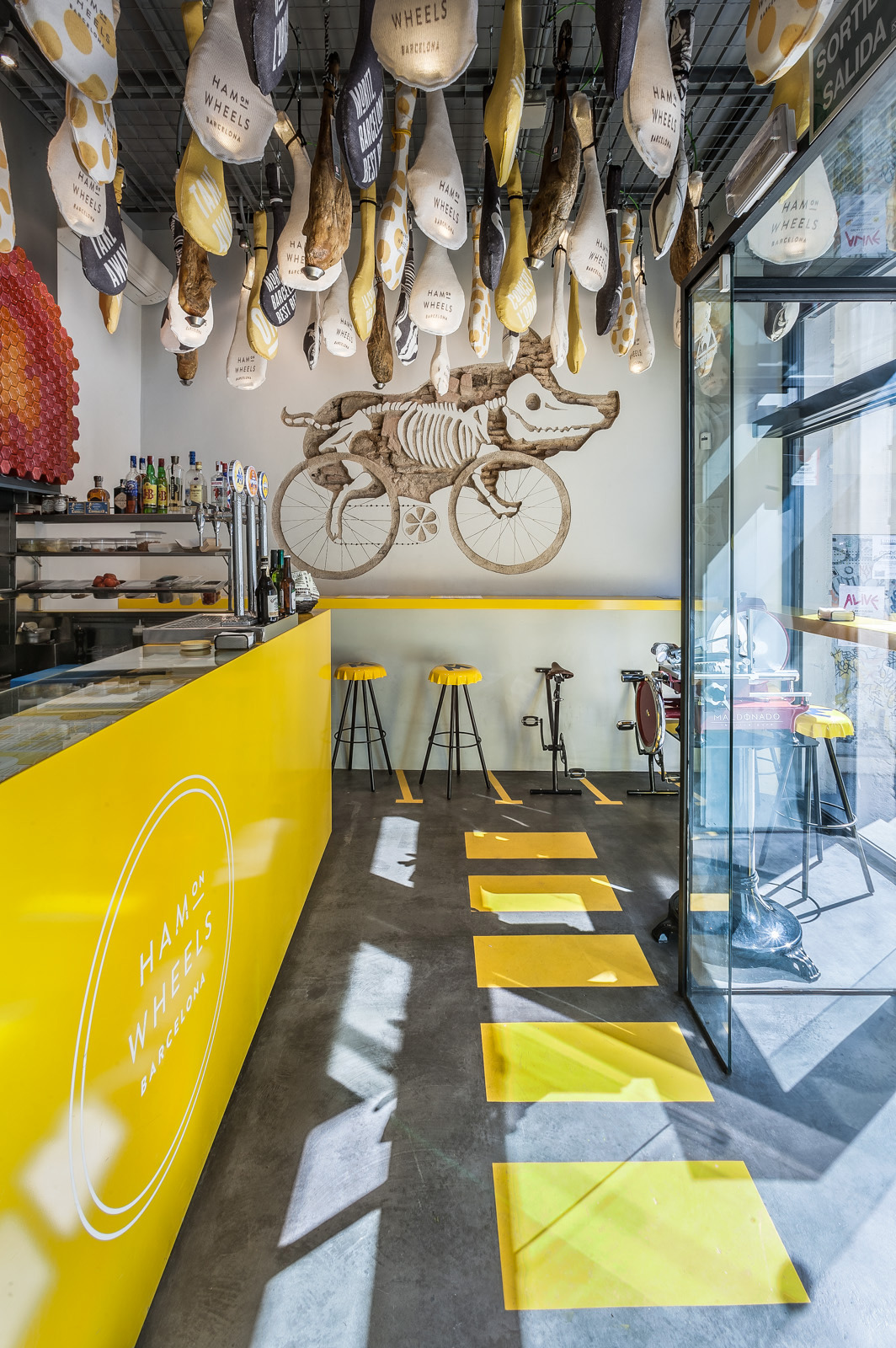 Interior Design and Signage for Ham on Wheels. Designed by External Reference. @enviromeant.com