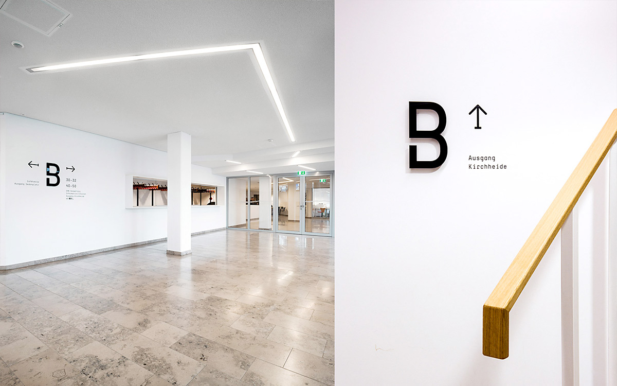Environmental Graphics for Gustav Heinemann Bürgerhaus. Designed by NameName