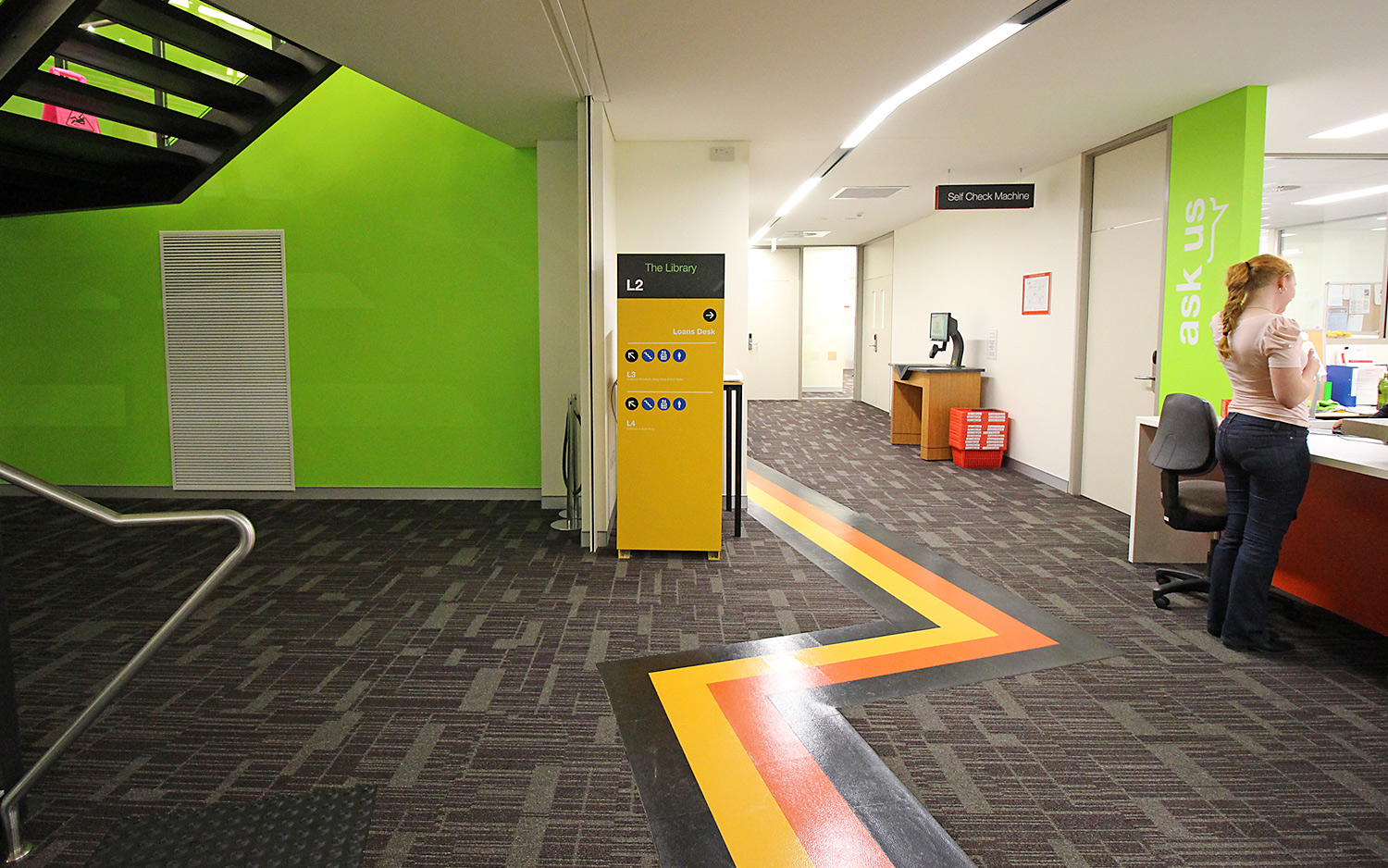 Wayfinding and signage for Charles Sturt University. Designed by JSD @enviromeant.com