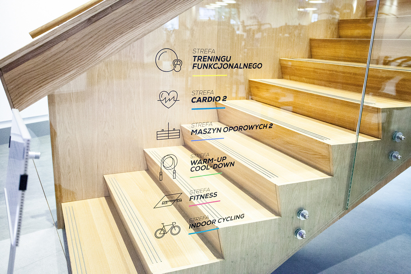 Signage System for Cityfit / Designed in Poland by MamaStudio Design Agency