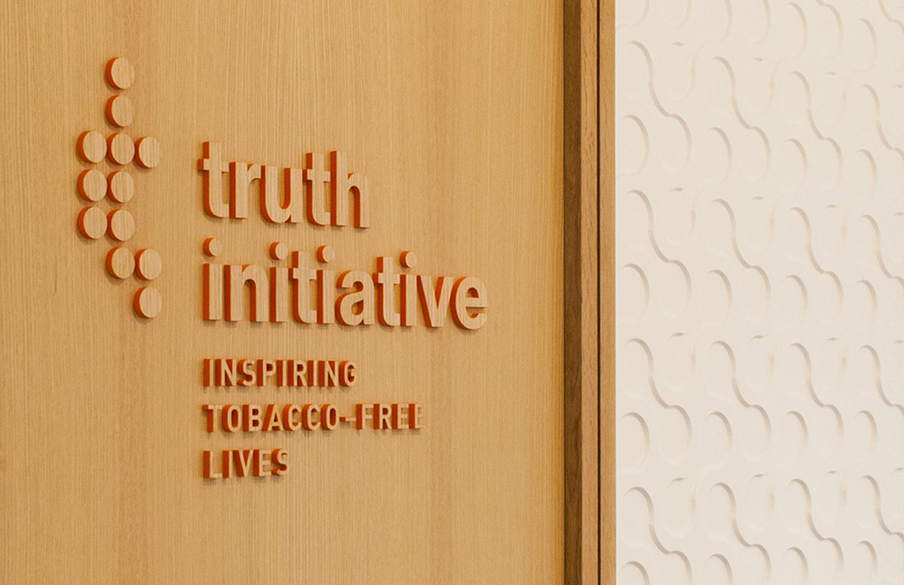 Environmental graphics for Truth Initiative / Designed Graham Hanson Design @enviromeant.com
