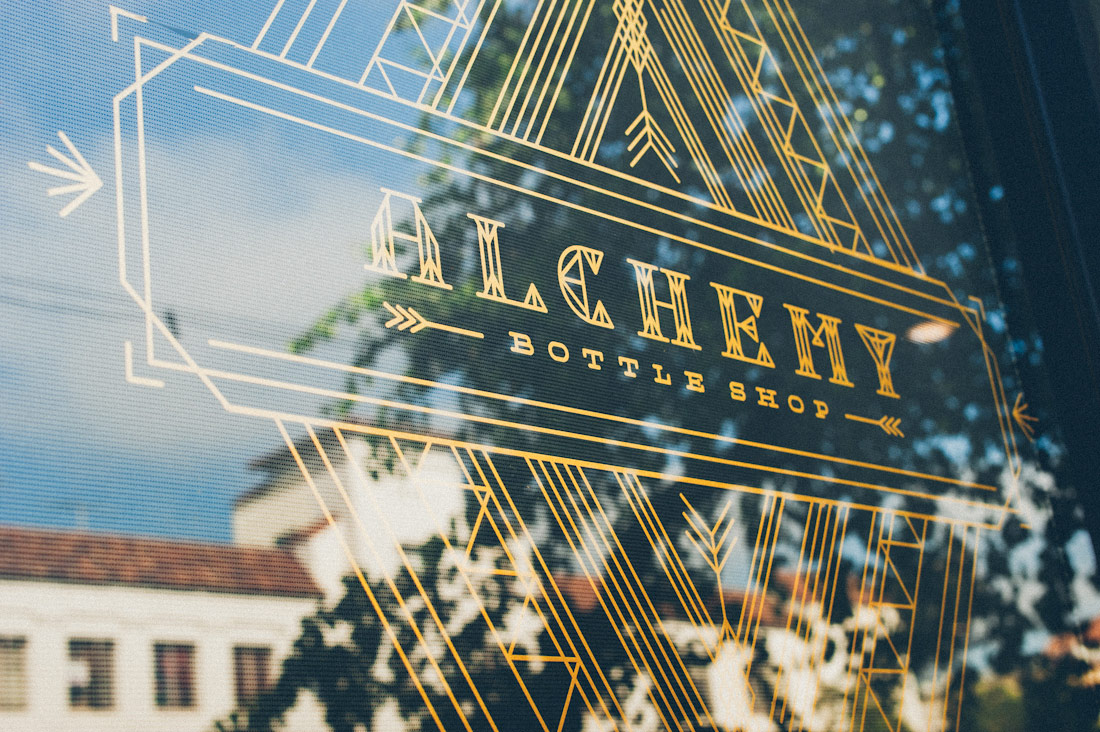 Cody Small window display for Alchemy Bottle Shop @enviromeant