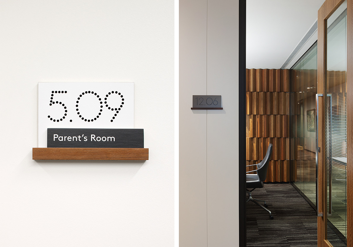 Signage numbers for Westpac / Designed by Fabio Ongarato Design @enviromeant