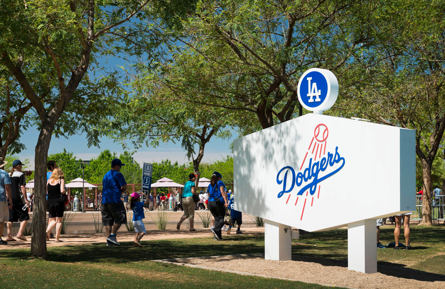 Signage System for Camelback Ranch / Dodger's Spring Training facility. Designed by Younts Design Inc. @enviromean