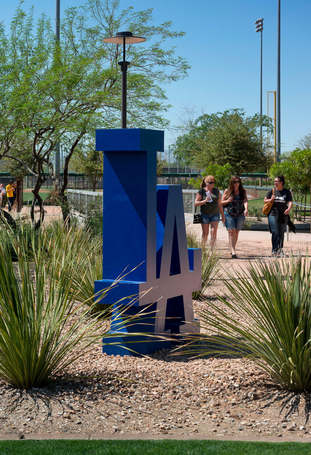 Environmental graphics for Camelback Ranch / Dodger's Spring Training facility. Designed by Younts Design Inc. @enviromean