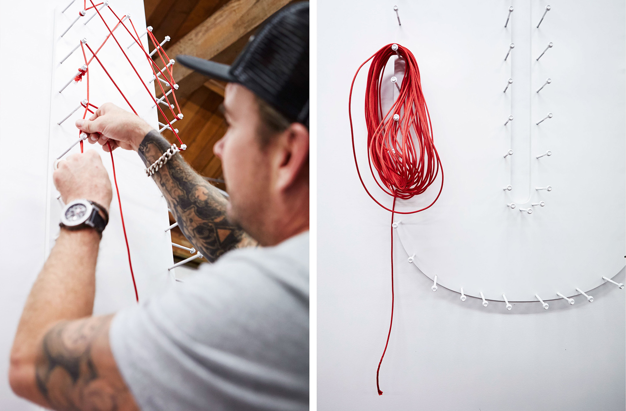 Making of rope typography for Ogilvy & Mather New Zealand Office. @enviromeant.com
