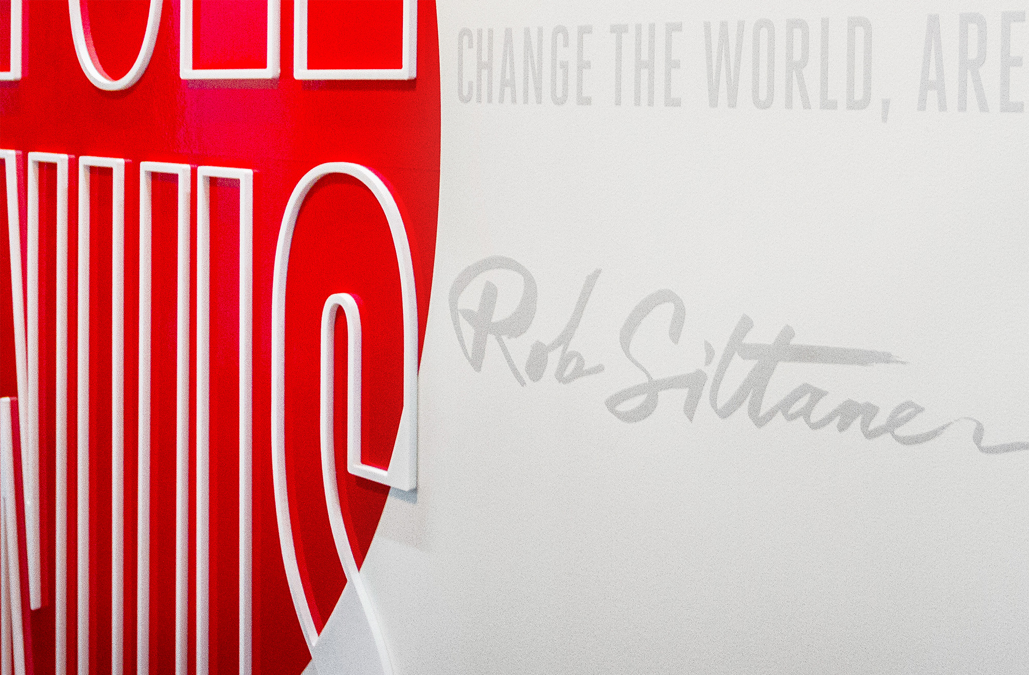 Inspirational quotes for environmental graphics for Ogilvy & Mather New Zealand HQ. @enviromeant.com