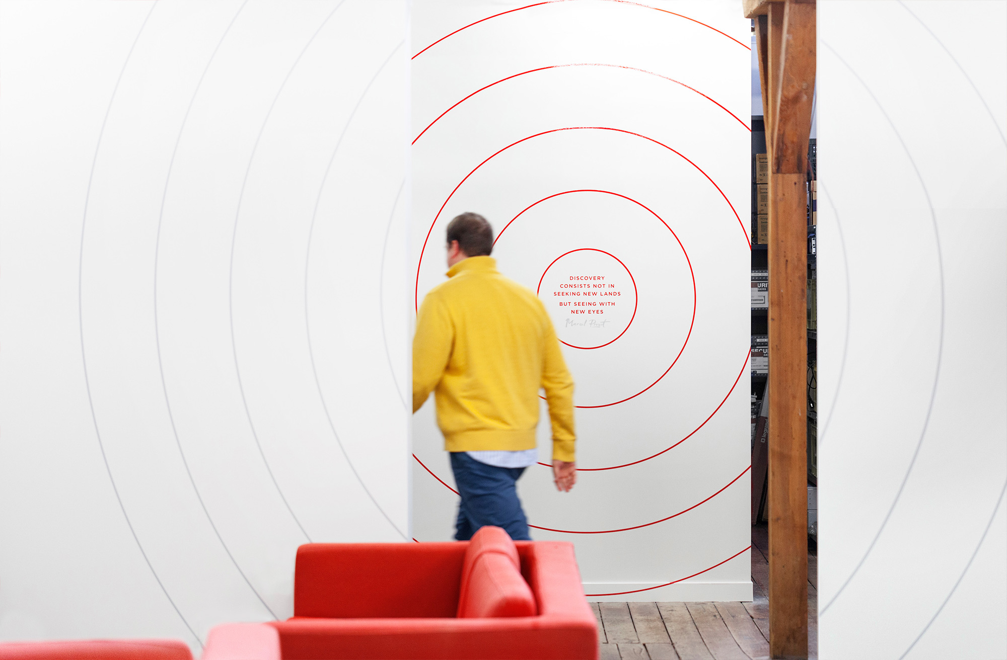 Motivational quotes on experiential graphics for Ogilvy & Mather New Zealand HQ. @enviromeant.com