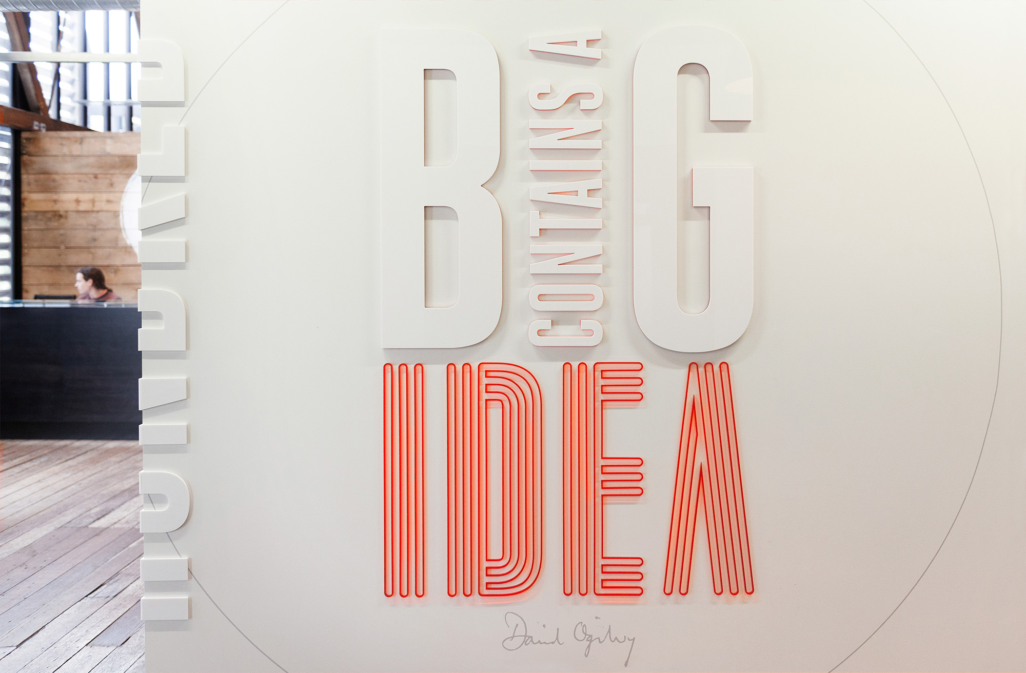 Quotes on environmental graphics for Ogilvy & Mather New Zealand HQ. @enviromeant.com