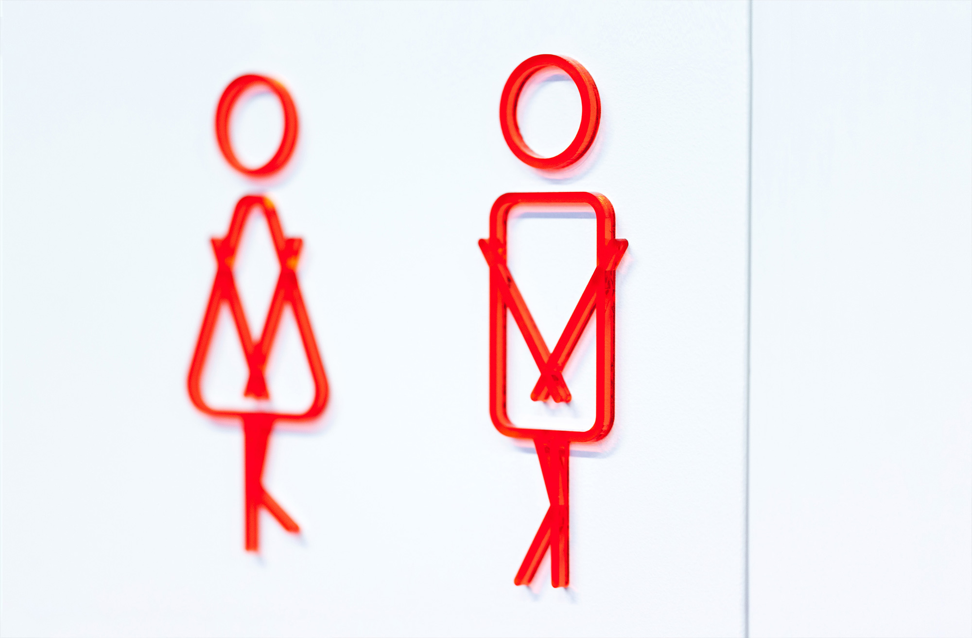 Bathroom signage for Ogilvy & Mather New Zealand HQ. @enviromeant.com