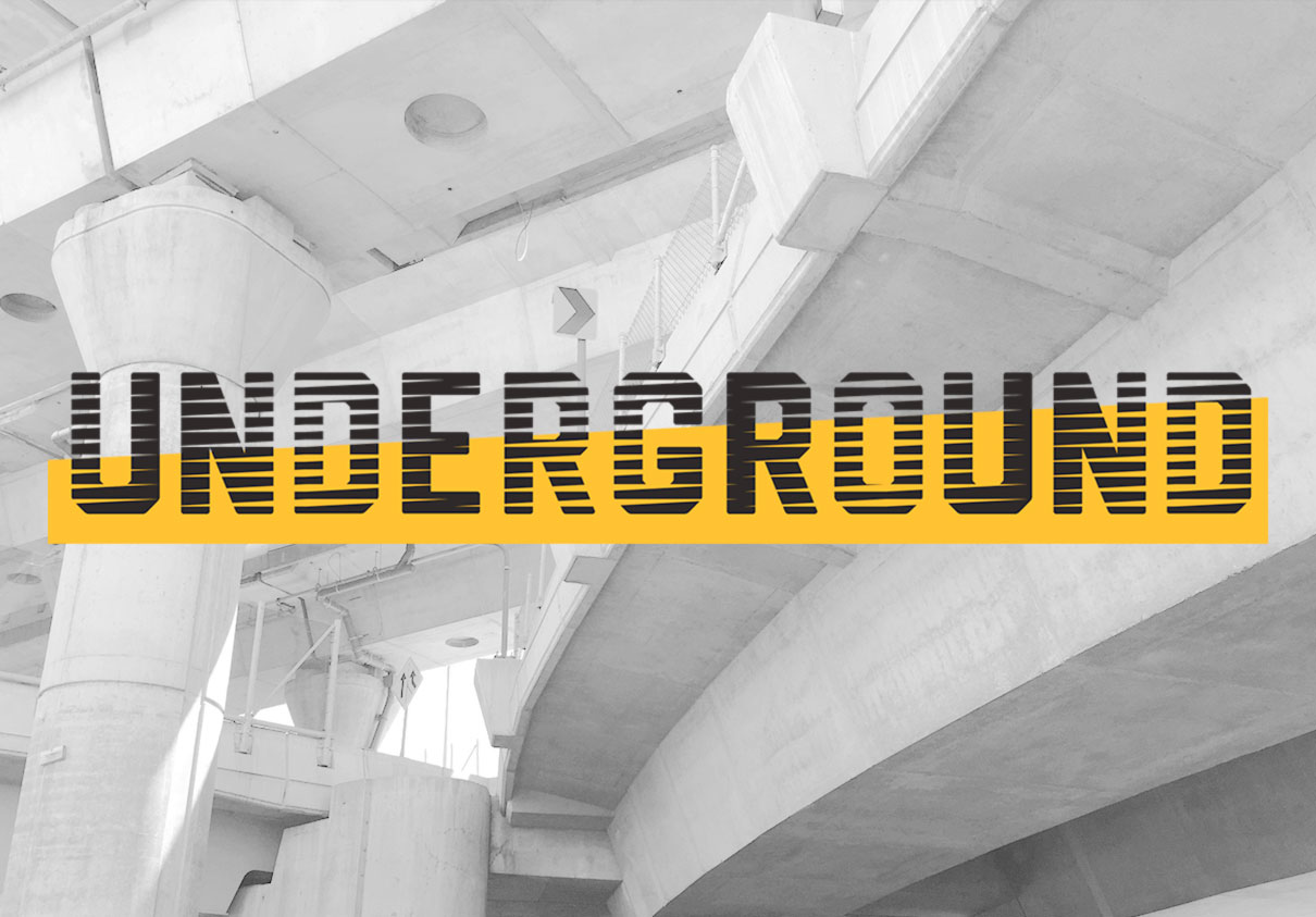 Underground, an urban park showcasing different artist. Designed by Visual Dialogue @enviromeant