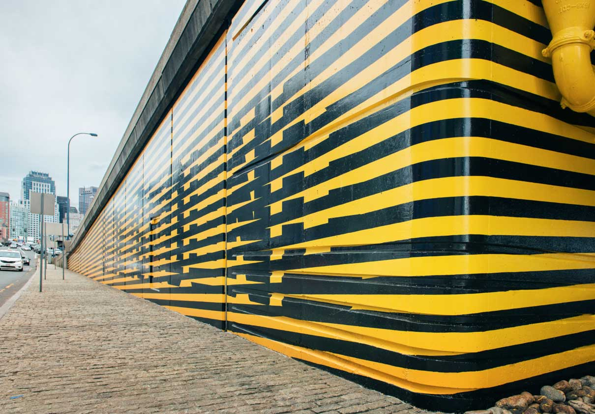 Grafitti stripes for Underground. Designed by Visual Dialogue @enviromeant