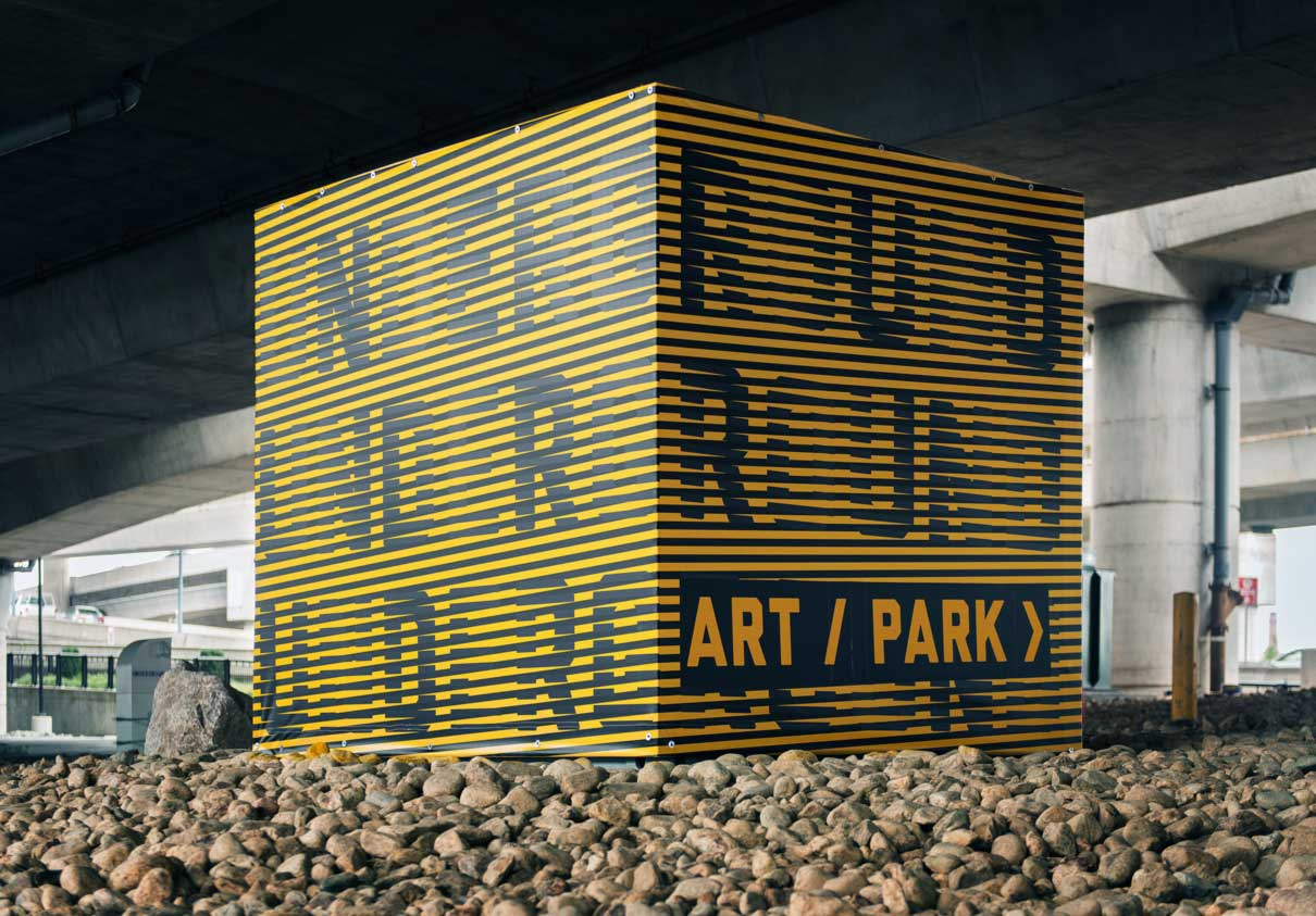 Grafitti created by different artists for Underground. Designed by Visual Dialogue @enviromeant
