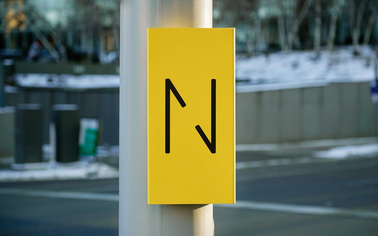 Signage system for Nicollet. Designed by Pentagram. @enviromeant.com
