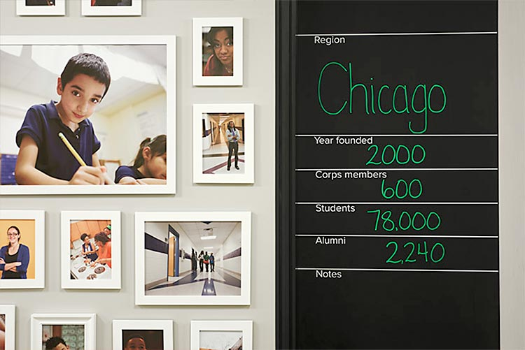 Environmental Graphics for Teach for America. Designed by Pentagram @enviromeant.com