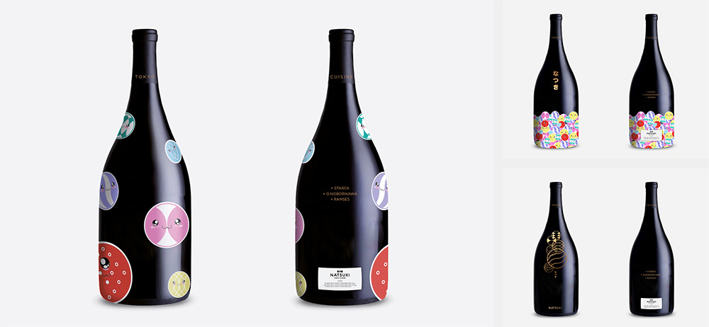 Graphic in bottles for Natsuki / Designed in Madrid by Erretres @enviromeant.com