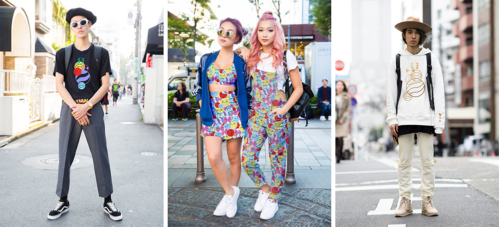 Fashion in Japan, a graphic study by Erretres @enviromeant.com