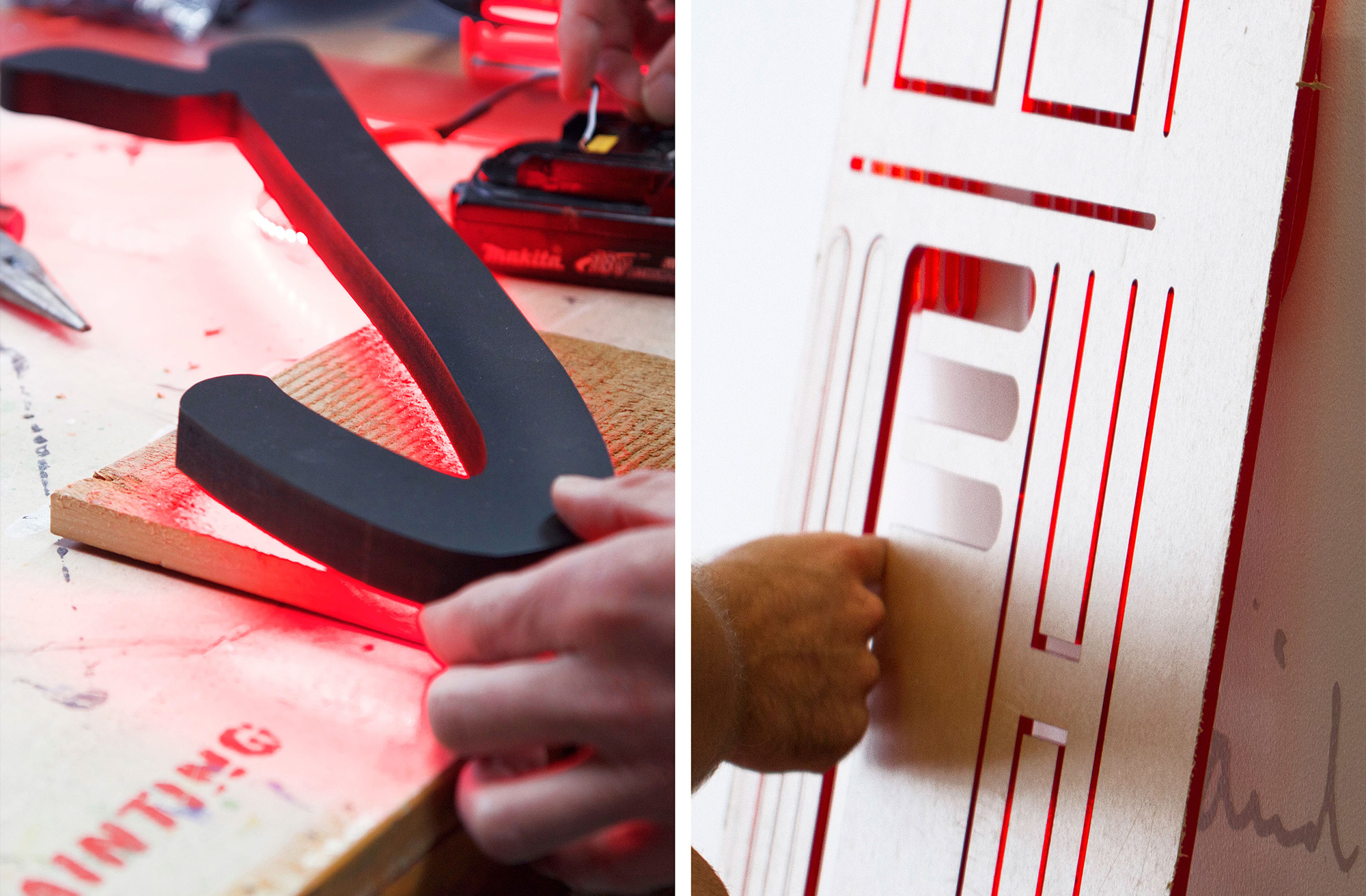Making of typography for Ogilvy & Mather New Zealand Office. @enviromeant.com