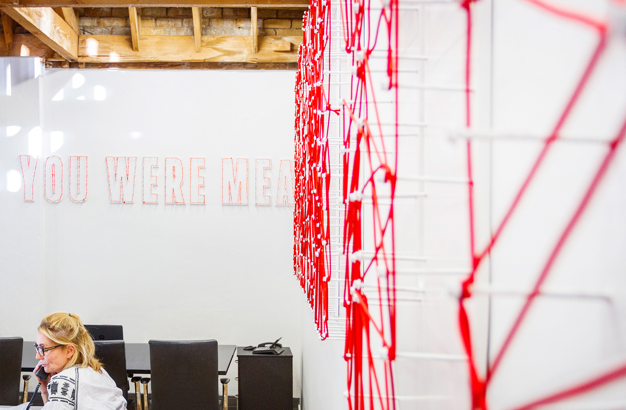 Rope typography for Ogilvy & Mather New Zealand HQ. @enviromeant.com