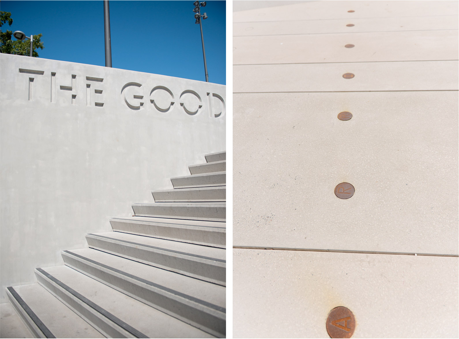 Signage and environmental graphics for The Goods Line. Designed by Deuce Design @enviromeant