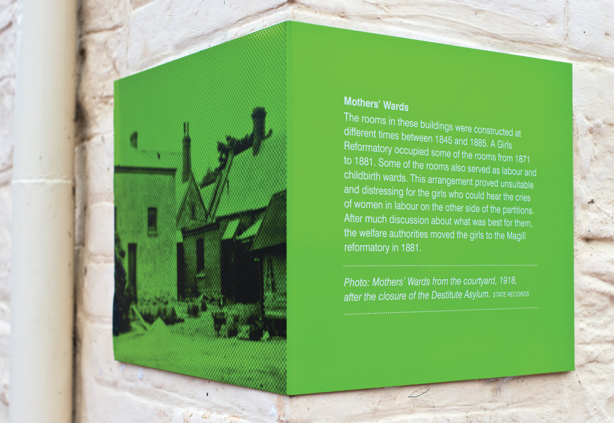 Signage system for the Migration Museum. Designed by We're Open. @enviromeant.com