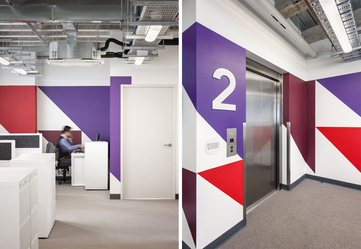 Environmental graphics and interior design for AMRC. Designed by We're Open. @enviromeant.com