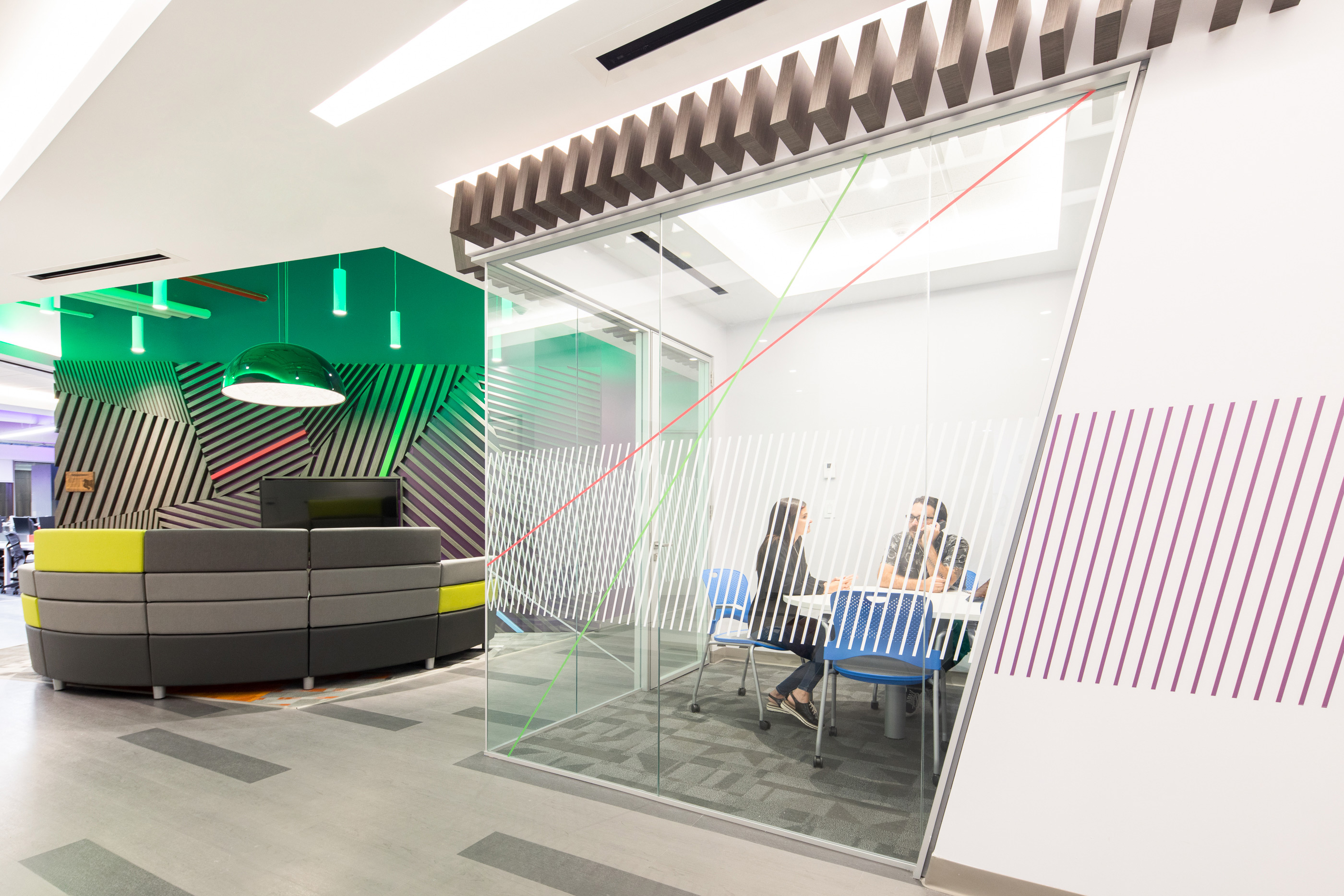 Environmental graphics and interior design for Bayer Office in Costa Rica. Designed by Bosque. @enviromeant.com