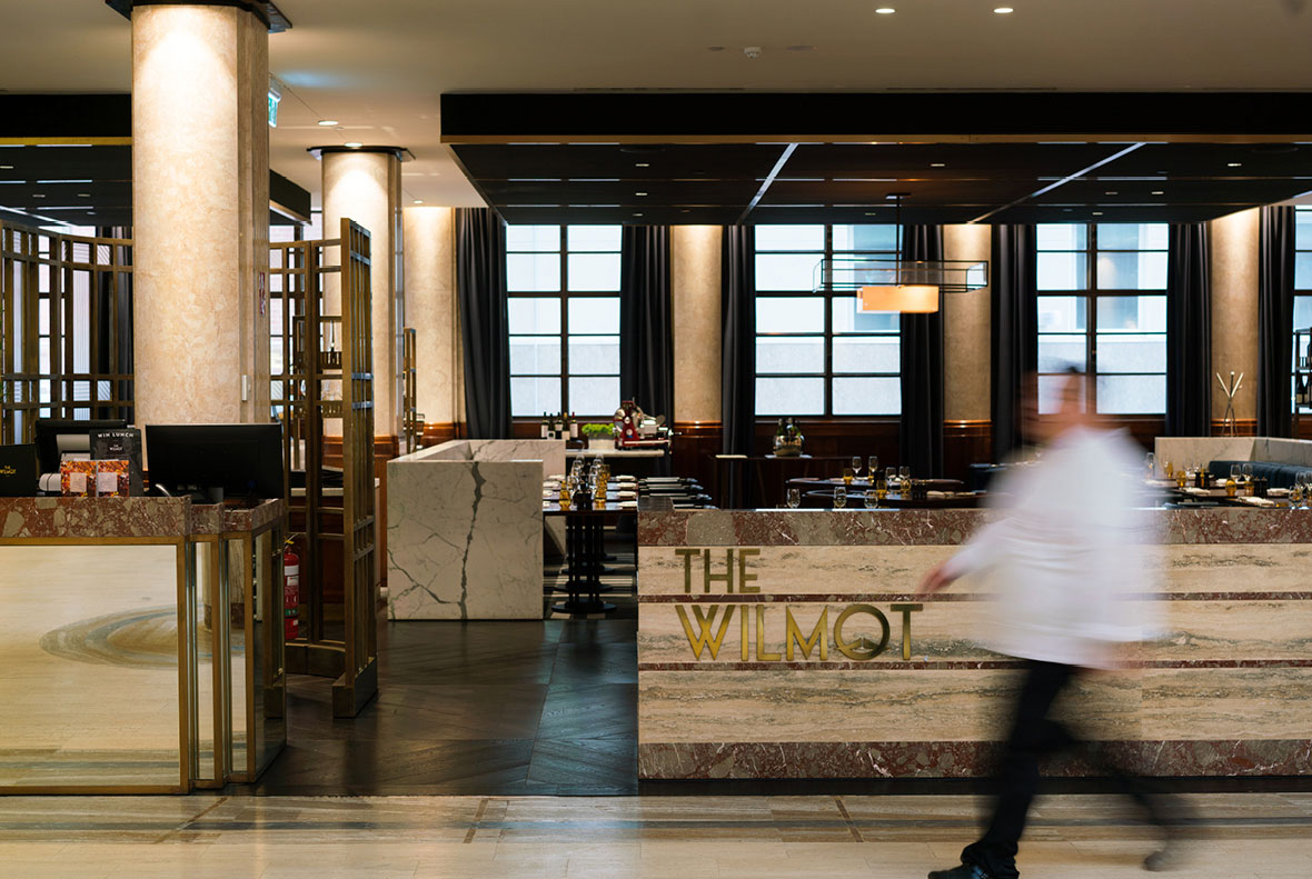 Art deco inspired Signage System for Primus Hotel Sydney. Designed by Corlette. @enviromeant.com